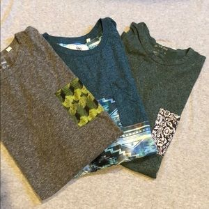 PacSun On The Byas men's shirts sz L lot of 3 cool